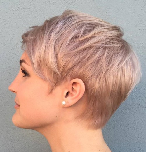 blonde-layered-pixie-hairstyle